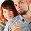 Royalty-Free Stock Photo: Young man and red hair woman