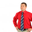 Businessman in a red shirt — Stock Photo #7446541