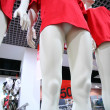 Legs female dummies in store — Stock Photo