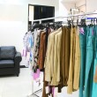 Clothes on rack in store — Foto de Stock