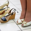 Fitting shoes — Stock Photo