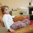 Little girl in dental surgery - Foto Stock