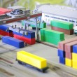 Model merchandise railway station - Stock Photo