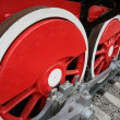 Locomotive wheels close up — Stock Photo