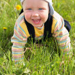Stock Photo: Baby on grass