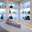 Stock Photo: Shoes and bags in store