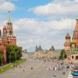 View of Kremlin and St. Basil cathedral — Foto Stock