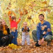 familie in park — Stockfoto