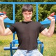 Stock Photo: Bodybuilder training
