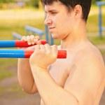 Athlete training — Stock Photo #7448260