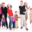 Royalty-Free Stock Photo: Many christmas family with children group isolated