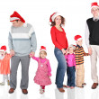Christmas family — Stock Photo