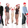 Many christmas families — Stock Photo