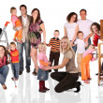 Family collage — Stock Photo