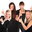Stock Photo: Business group with ok gesture