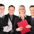 Smiling faces business group — Stock Photo