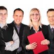 lachende gezichten bedrijfsgroep — Stockfoto