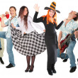 Dancing group isolated — Stock Photo