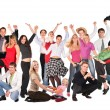 Happy group isolated collage — Stock Photo #7448429