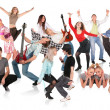 Party dancing group — Stock Photo #7448435