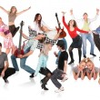 Party dancing group — Stock Photo