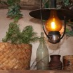 Burning kerosine lamp — Stock Photo
