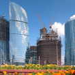 Stock Photo: Building of skyscrapers in Moscow
