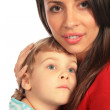 Woman and boy close-up — Stock Photo #7449028
