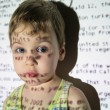 Stock Photo: Child text projection device