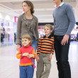 Family in supermarket — Stock Photo #7449534