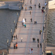 On footbridge across Moscow-river — Stock Photo