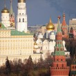 View of Moscow Kremlin and belfry of Ivan the Great - Stock Photo