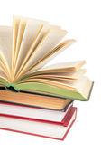 Pile de livres à livre ouvert 2 — Photo