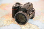 Camera on map of europe — Foto de Stock