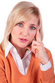 Middleaged woman face close-up 3 — Stock Photo