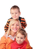 Woman with kids — Stock Photo