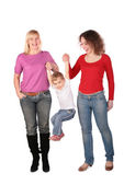 Two women and kid — Stock Photo