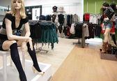 Women mannequin in store — Stock Photo