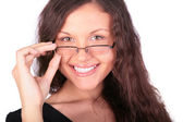 Young pretty girl in glasses — Stock Photo