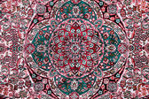 Carpet with floral ornament — Stockfoto