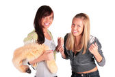 两个快乐女孩 — 图库照片