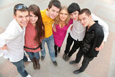 Grupo de jovens de cima — Foto Stock