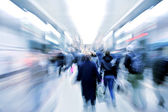 Passengers in subway — Stock Photo