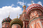 Domes of st.Basil cathedral in Moscow — Stock Photo