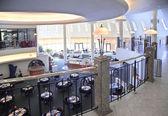 Interior cafe from balcony — Stock Photo