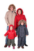 Family in winter clothing — Stock Photo