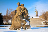 Monument to Russian soldiers in Volgograd — 图库照片