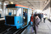 Station of rapid tram in Volgograd — Stock Photo