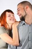 年轻的男人和红头发女人 — 图库照片