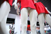 Nogi kobiece manekiny w sklepie — Zdjęcie stockowe